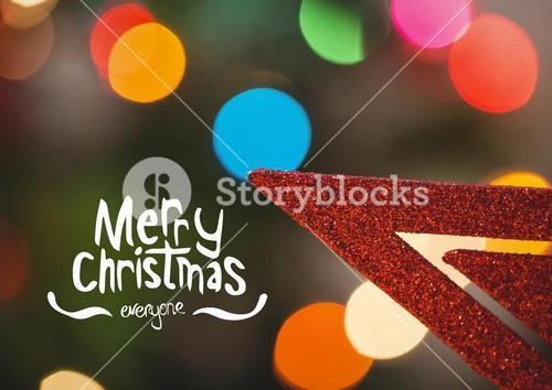 Digitally composite image of merry christmas message