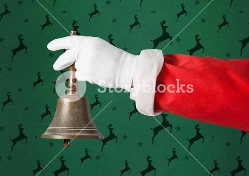 Santa claus holding a christmas bell