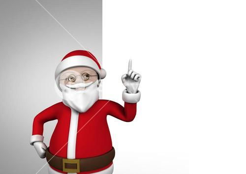 3D Figurine of santa claus during christmas time
