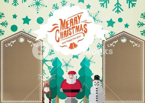 3D Illustration of santa claus christmas wishes and decoration