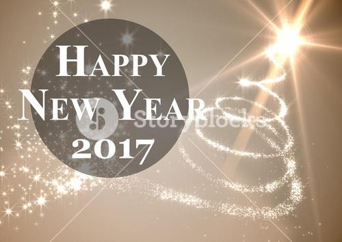 2017 new year wishes against digitally generated background