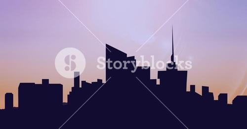 Silhouette of a modern city scape