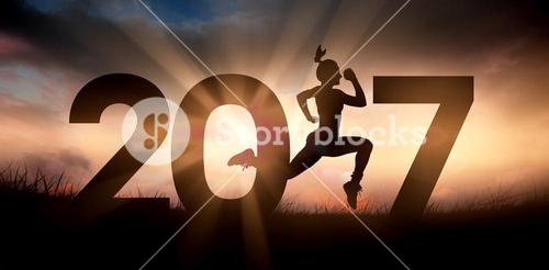 Composite image of fit woman silhouette