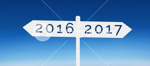 Composite image of digital image of new year 2017