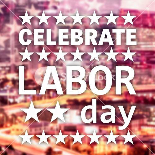 Poster of celebrate labor day text