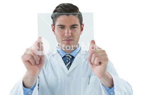Doctor pretending to be examine x-ray