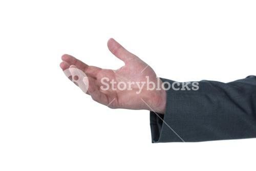 Close-up of businessman hand gesturing