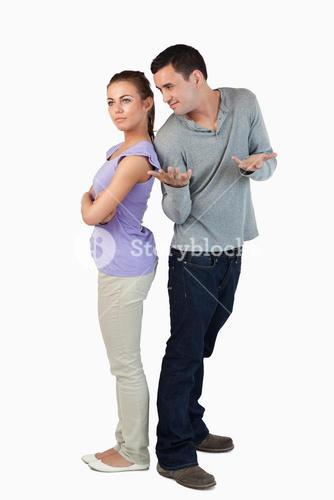 Young couple having stress