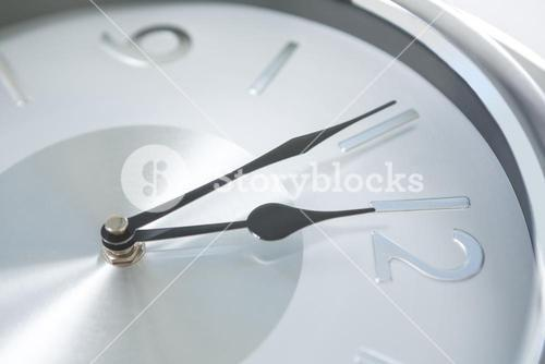 Image of countdown to midnight on clock