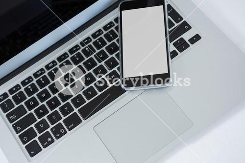 Laptop and smart phone