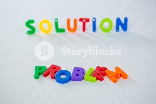 Word problem and solution isolated on white background