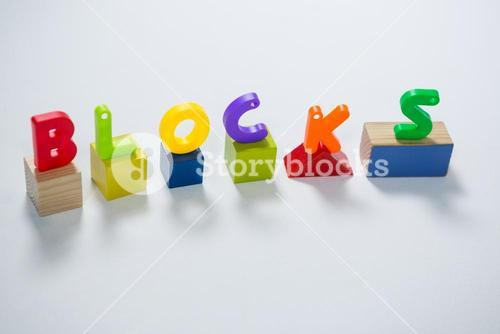 Toy letters showcasing blocks
