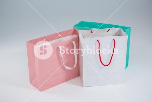 Close-up of multicolored shopping bags
