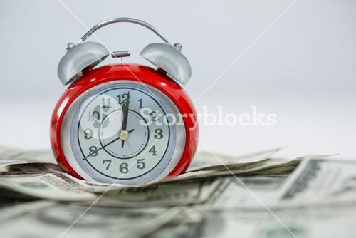 Alarm clock with dollars