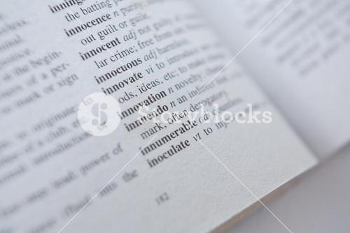 Dictionary page showing meaning of I