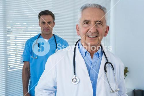 Portrait of doctor and surgeon