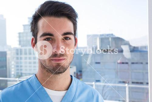 Portrait of handsome surgeon