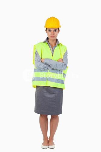 Portrait of a female contractor