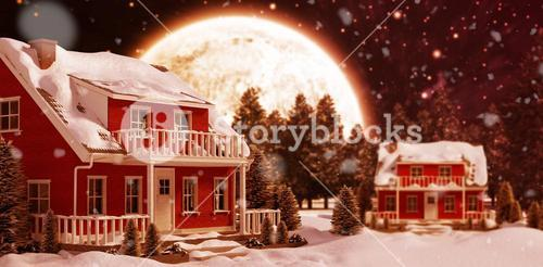 Composite image of christmas snow falling