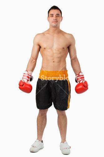 Young boxer looking confident