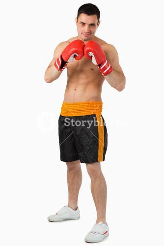 Confident looking boxer