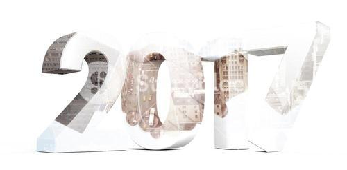 Composite image of illustration of new year number