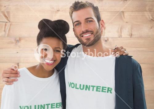 Couple volunteers