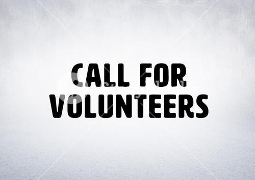 """Call for volunteers"""