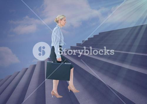 Woman using stairs