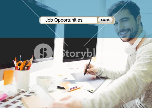 Browser research on working businessman picture