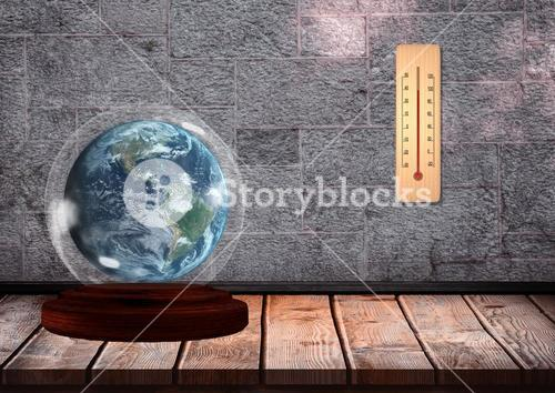 Sphere and thermometer