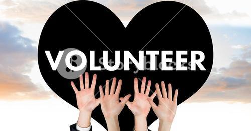 Hands up for volunteer
