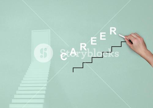 Stairs with word career
