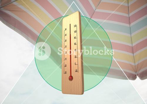 digital composite of thermometer