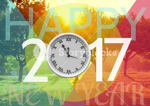 digital composite of new years message