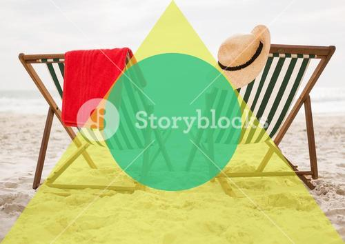 digital composite of deck chairs