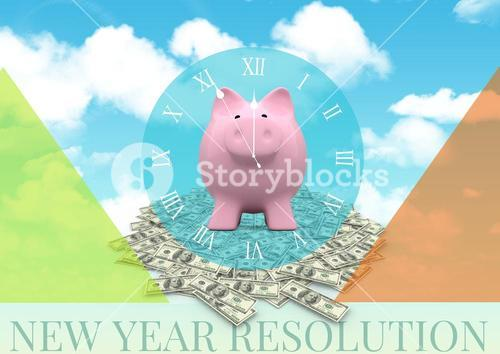 digital composite of piggy bank