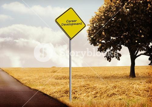 Digital composite of road sign