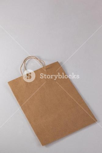 Brown paper shopping bag