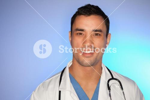 Young doctor posing