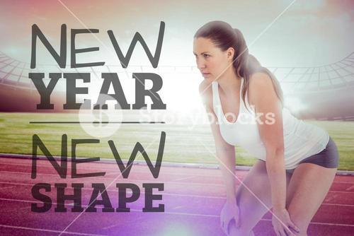 Composite image of new year new shape