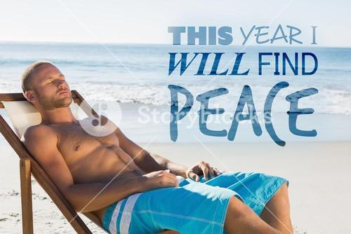 Composite image of this year i will find peace