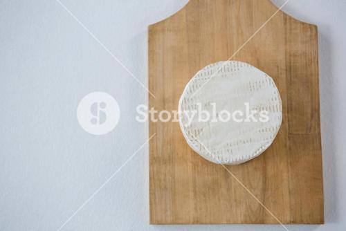 Goat cheese on wooden board