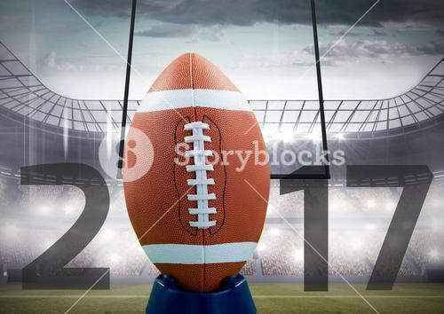 Rugby ball forming 2017 against stadium