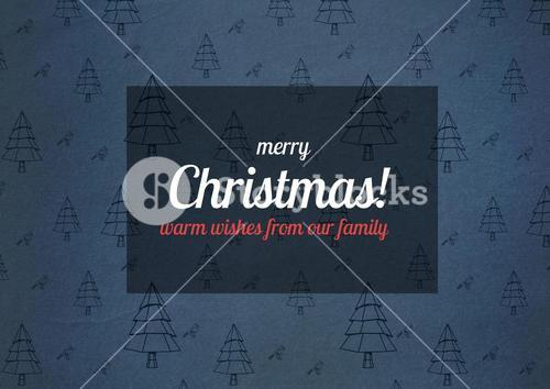 Digitally generated christmas greeting card