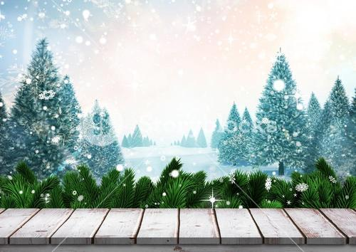 Digitally generated image of Christmas background