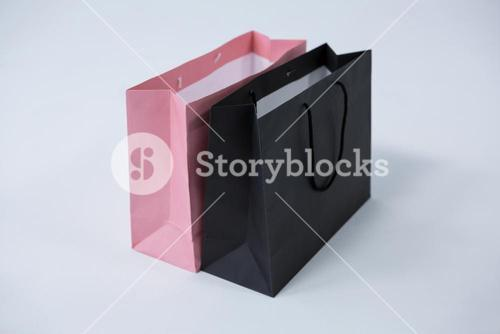 Black and pink shopping bags