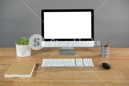 Desktop pc on table
