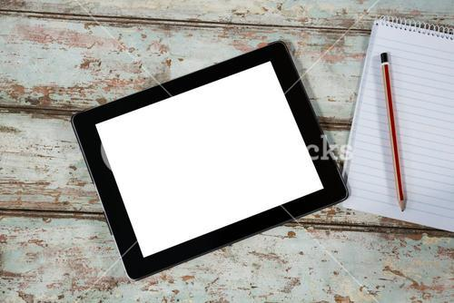 Digital tablet and notepad with pencil