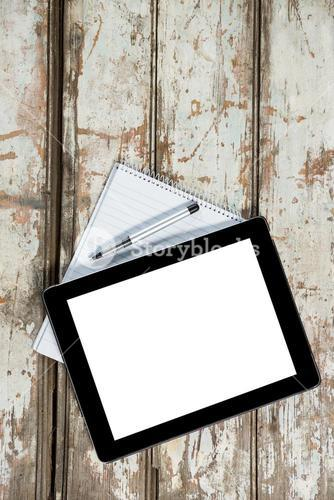 Digital tablet with notepad and pen